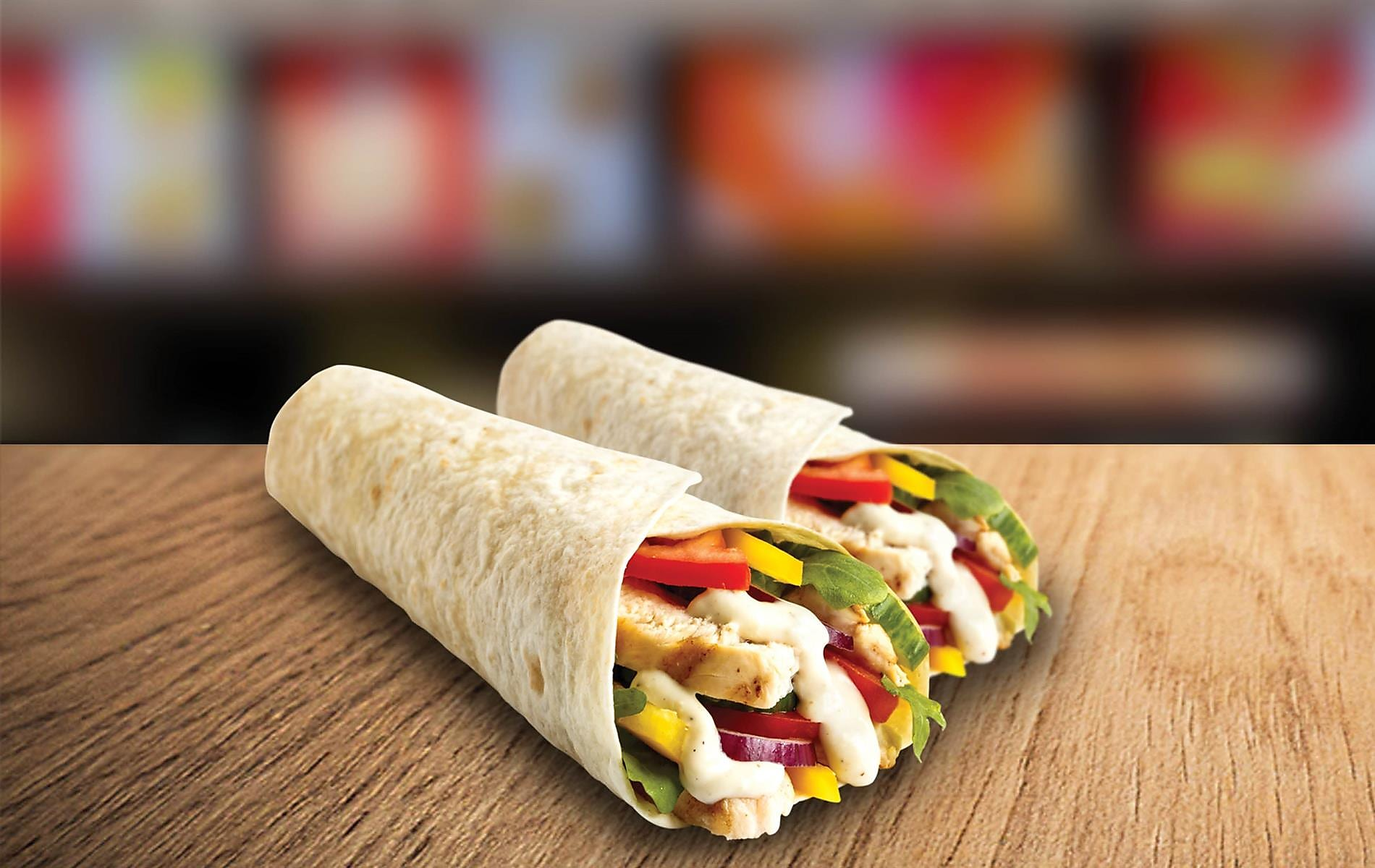 Double Deal Monday 2 x Chicken Wraps for N$60.00